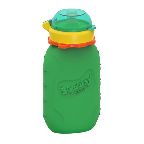Squeasy Snacker Silicone Reusable Food Pouch - Large 175ml Green