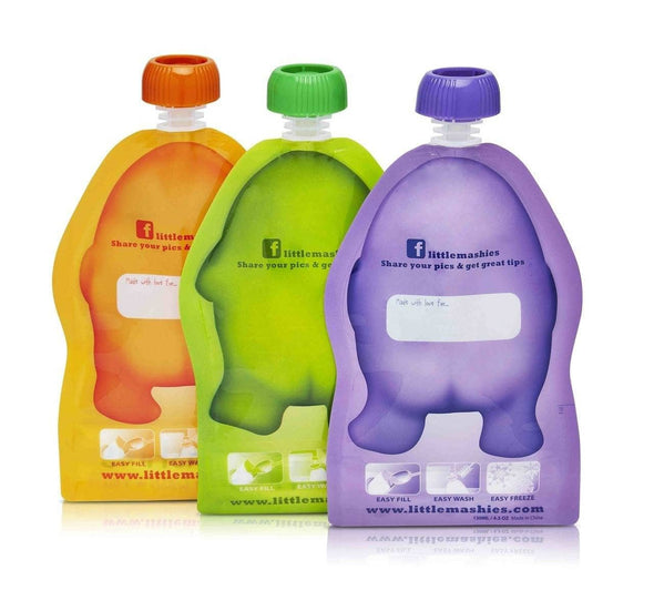 Little Mashies Reusable Food Pouches easy to fill
