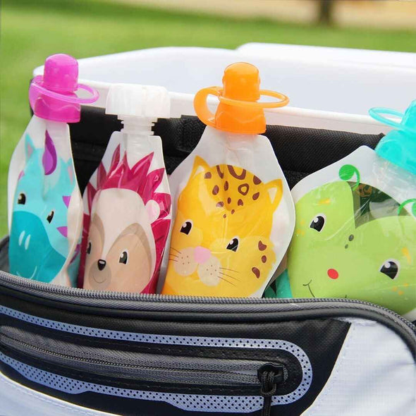 ChooMee Snakpack Reusable Baby Food Pouches with Choomee Soft Tops