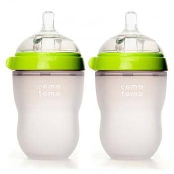 Comotomo Silicone Baby Bottle 250ml 2 Pack green