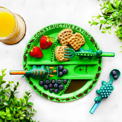 Constructive Eating Dinosaur Plate and Utensil Set