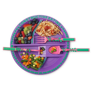 Constructive Eating Garden Fairy Plate and Utensil Set