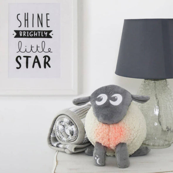 Ewan the Dream Sheep DELUXE - with cry sensor Grey with heartbeat and womb sounds