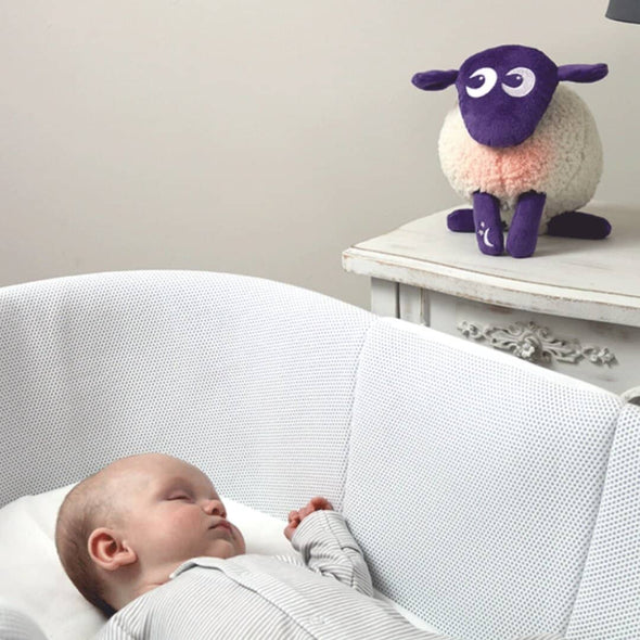 Ewan the Dream Sheep DELUXE - with cry sensor purple