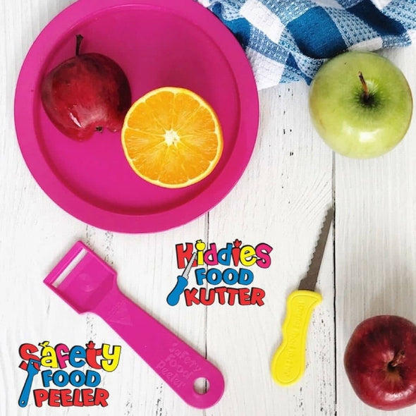 Kiddies Food Kutter and Safety Peeler Set