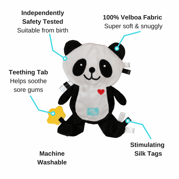 Popo the Panda Taggie Comforter - 2 Pack