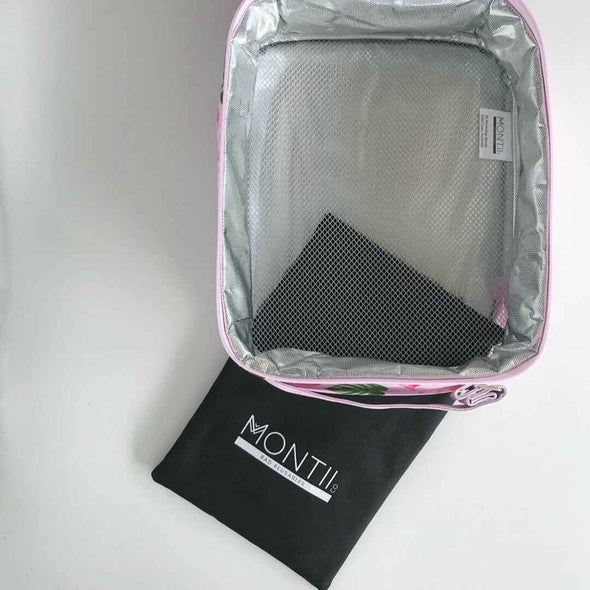 Montiico Insulated Kids Lunch Bag opened with cooler pack