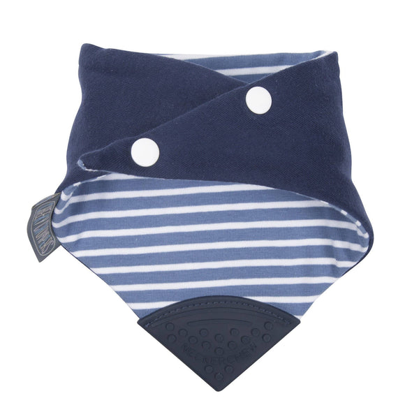 Neckerchew Preppy Stripes Dribble Bib and Teether