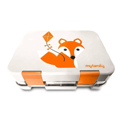 NEW TRAY - Easy Clean My Family Bento Lunch Box - Fox