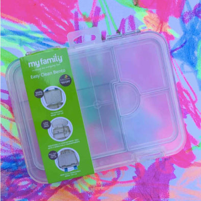 NEW TRAY - Clear Easy Clean My Family Bento Lunch Box - Make it Yours