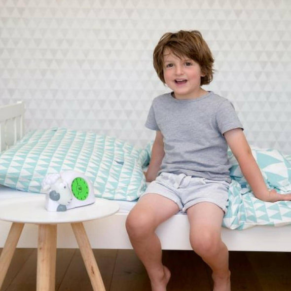 Sam the lamb sleep training clock for toddlers green to wake up