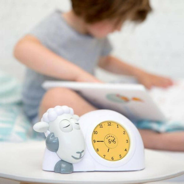 Sam the lamb sleep training clock orange for staying in bed