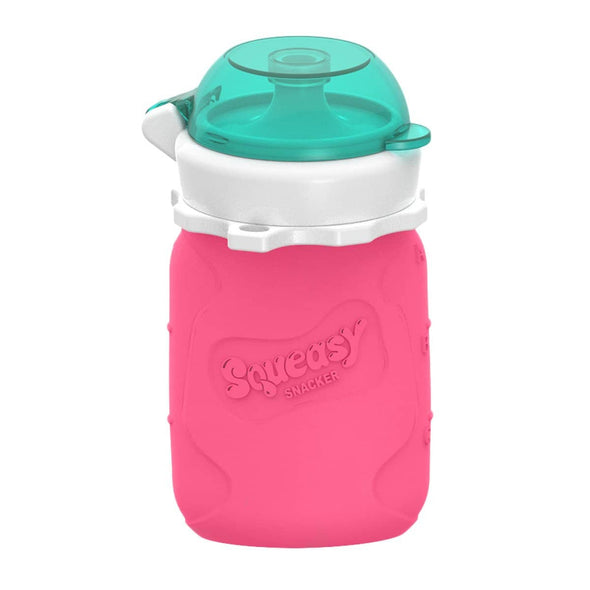 Squeasy Snacker Silicone Reusable Food Pouch Small 100ml Pink