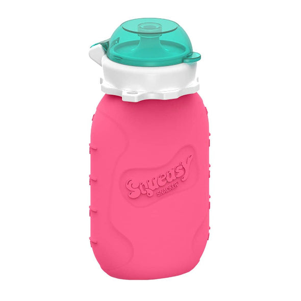 Squeasy Snacker Silicone Reusable Food Pouch - Large 175ml Pink