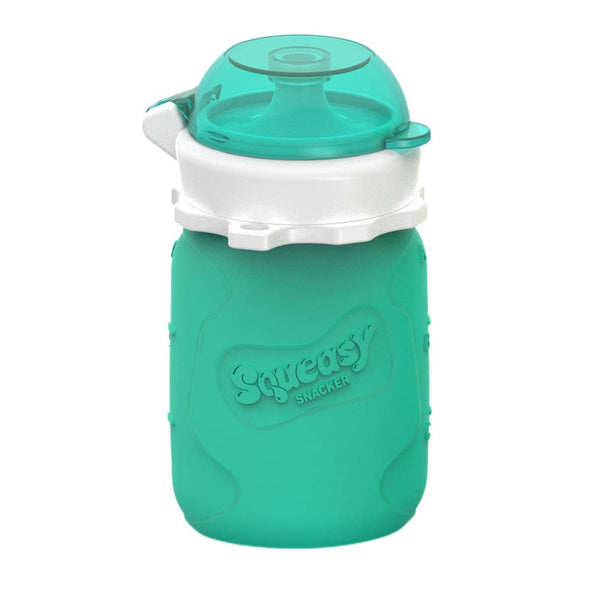Squeasy Snacker Silicone Reusable Food Pouch Small 100ml Aqua