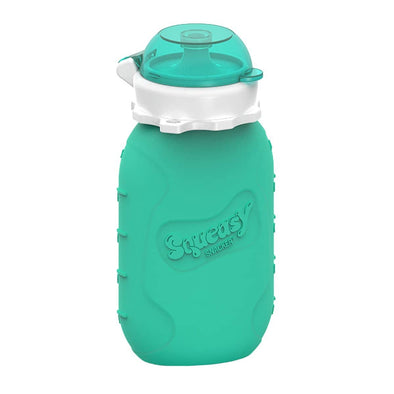 Squeasy Snacker Silicone Reusable Food Pouch - Large 175ml Aqua