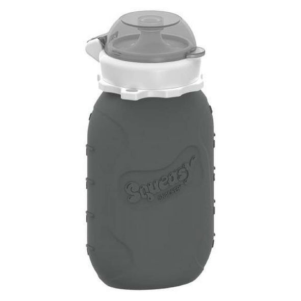 Squeasy Snacker Silicone Reusable Food Pouch - Large 175ml Grey