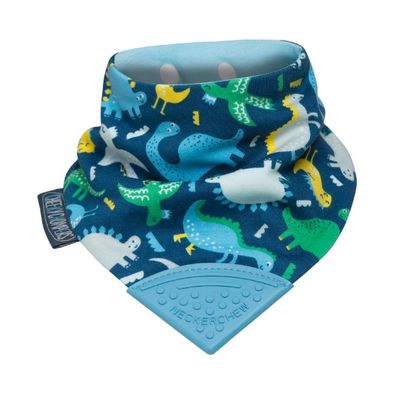 Neckerchew Dino Dribble Bib and Teether