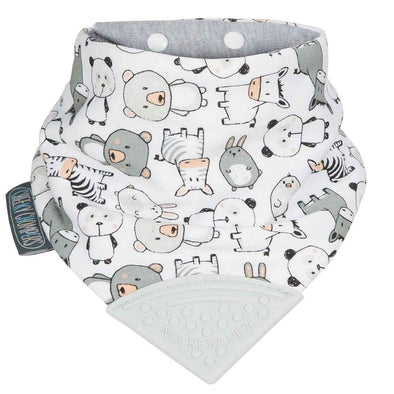 Neckerchew Panda Pals Dribble Bib and Teether