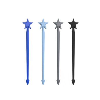 Stix by Lunch Punch - 4 Pack - Blue/Light Blue/Silver/Black Stix