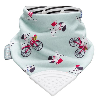 Neckerchew Parisian Pups Dribble Bib and Teether