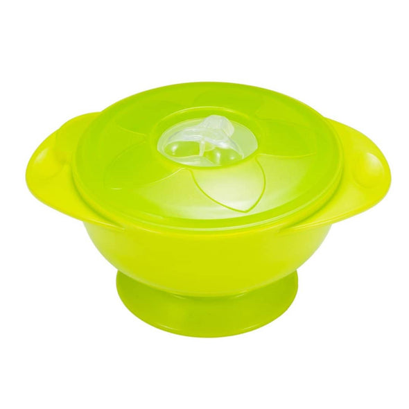 YumBubs Suction Bowl with Lid green BPA free
