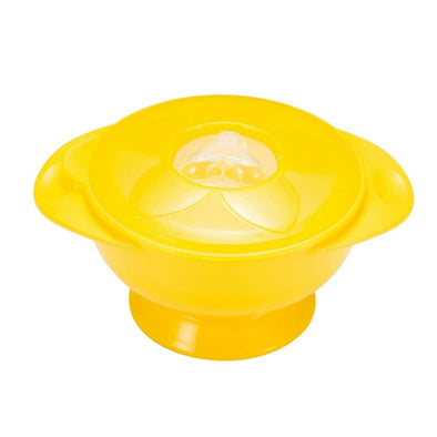 YumBubs Suction Bowl with Lid yellow BPA Free