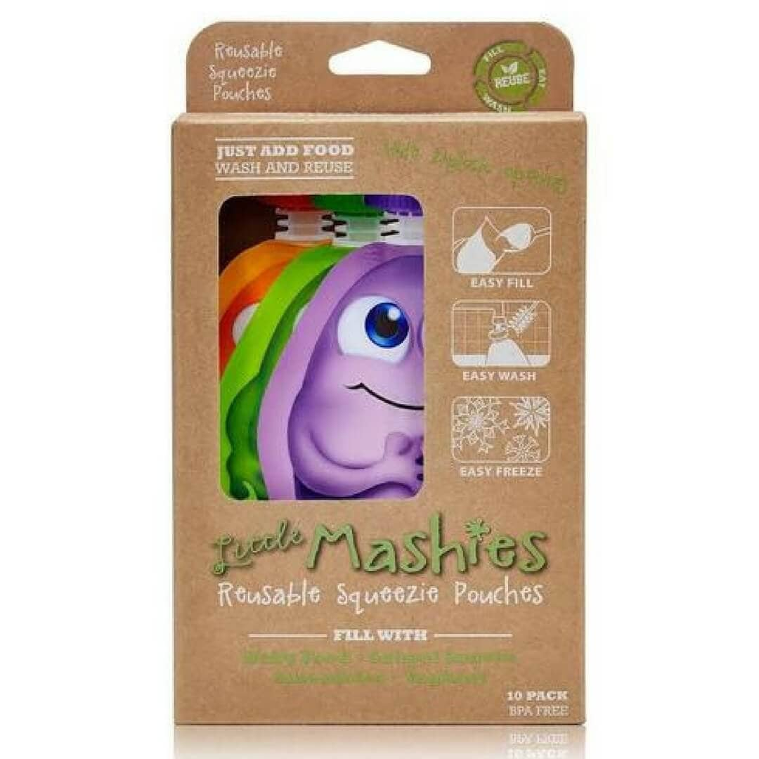 Little Mashies Reusable Squeeze Food Pouch 10 Pack