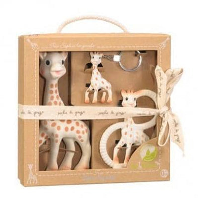 Sophie the Giraffe So Pure Trio perfect baby shower gift