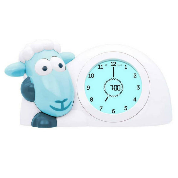 Sam the Lamb Sleep Trainer Clock Blue