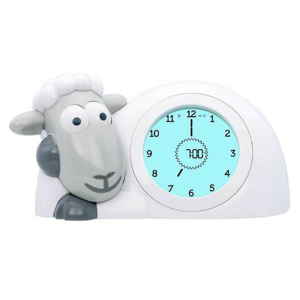 Sam the Lamb Sleep Trainer Clock Grey