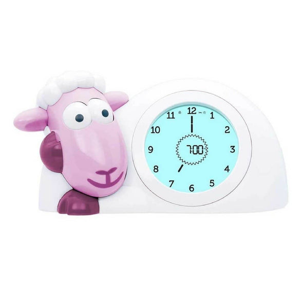 Sam the Lamb Sleep Trainer Clock Pink