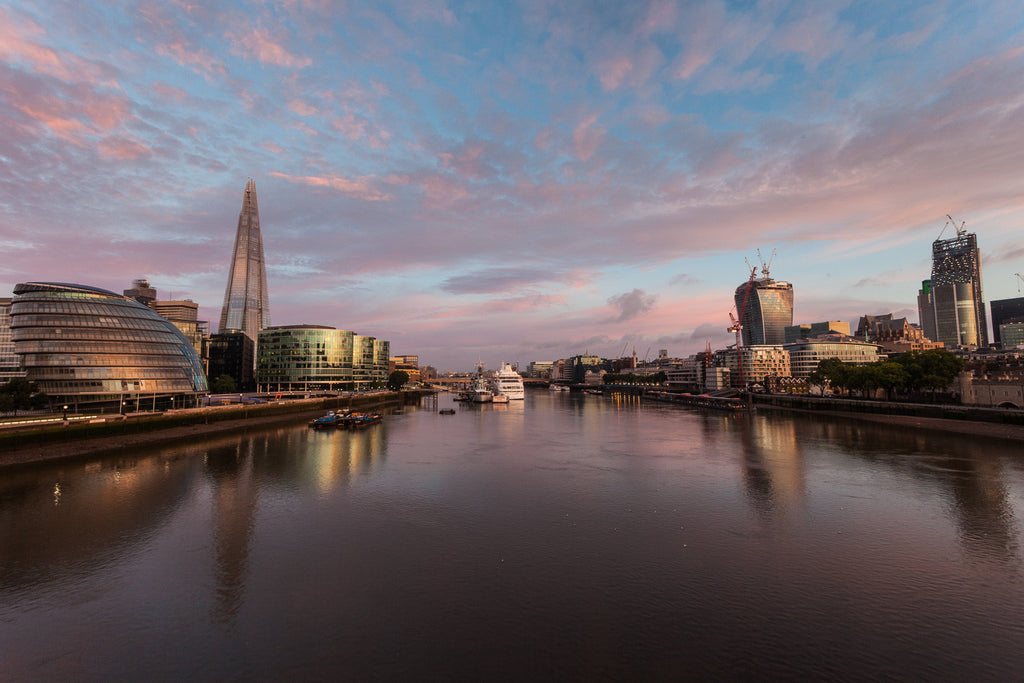 City Hall, Shard and Thames at dawn