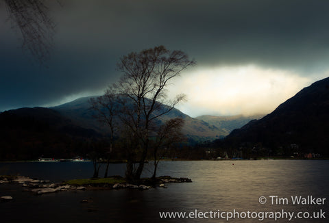 Early morning light above Raise, from Ullswater with two steamers
