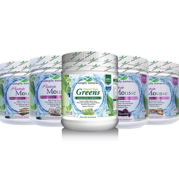 Protein Mousse 4 pack & Super Greens + Apple