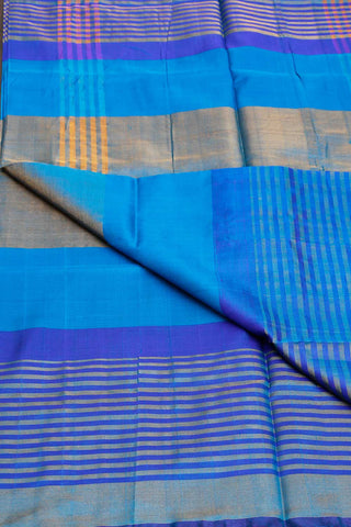 Shades of Blue Zari Lines Uppada Silk Saree