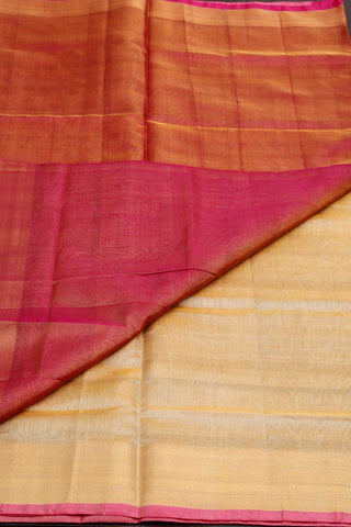 Gold Pink Tissue Uppada Silk Saree