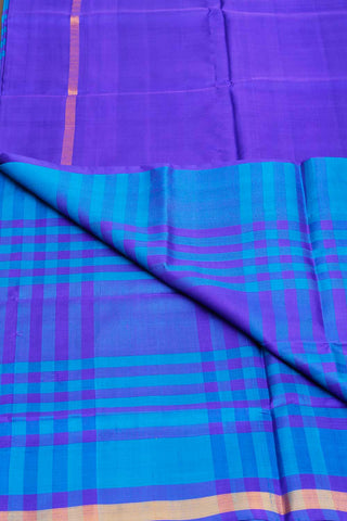 Shades of Blue Checkered Uppada Silk Saree