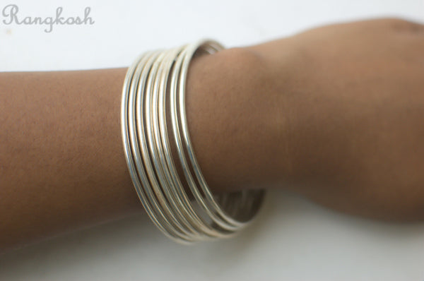 Plain Bangles -  925 Sterling Silver - size 2-6