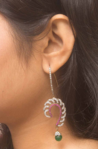 Gold-plated Alankruthi Earrings