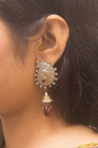 Gold-plated Paisely Jhumka