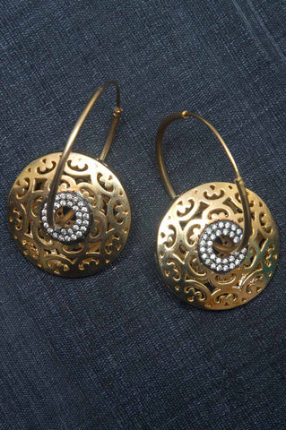 Gold-plated Baali Hoop Earrings