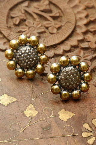 Kranthi Gold Plated Silver Studs