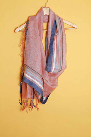 Light brown linen stole