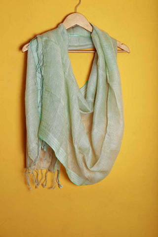 Light mint green linen stole