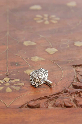 Pushpa Drop Silver Nose pin