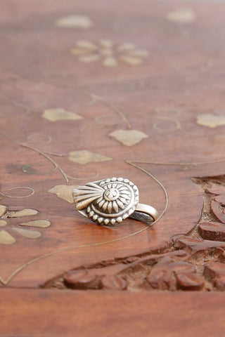 Rudra Drop Silver Nose pin