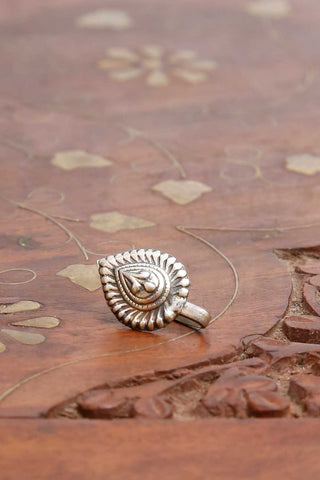 Vinaya Silver Nose pin