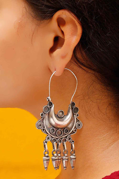 Tribal Charm Hoop Earrings