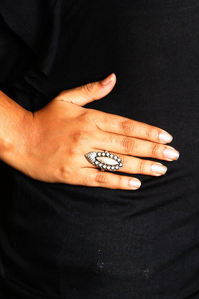 Silver Patra Tribal Ring